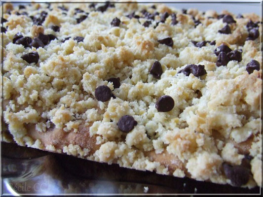 tarte  crumble cannelle chocolat