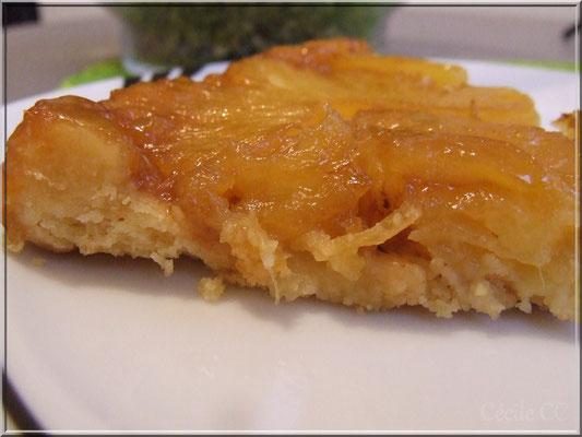 Part tarte ananas caramélisée