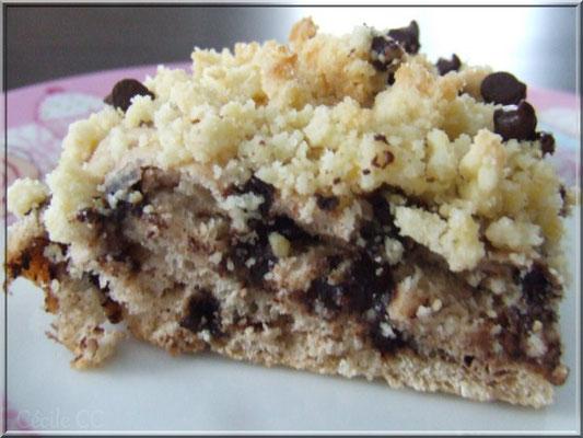 tarte briochée chocolat crumble cannelle chocolat