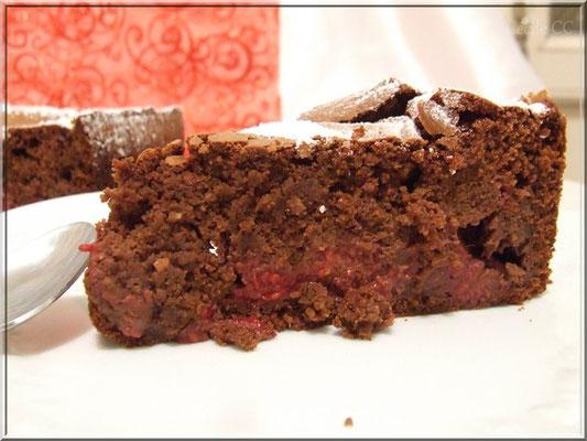 gateau chocolat framboise amande
