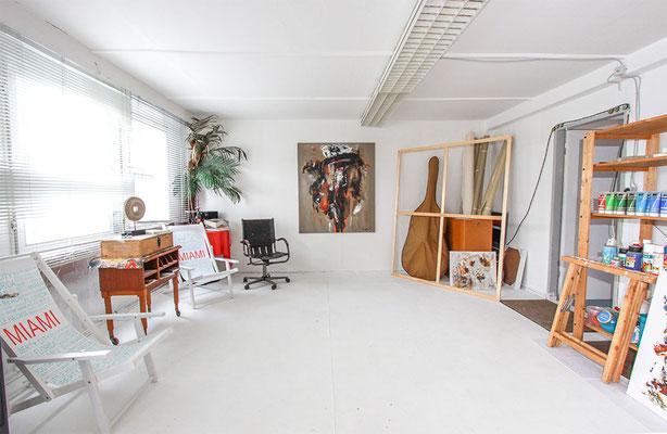 Das Atelier unserer Künstler - hier fließt die Kreativität.