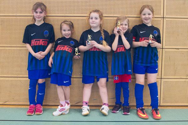 Die G-Juniorinnen der SG Oldesloe/Reinfeld