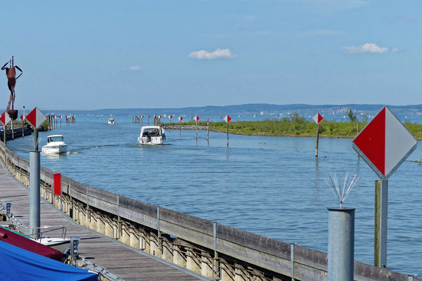 Die Mündung des Rheintalkanals in den Bodensee bei Altenrhein