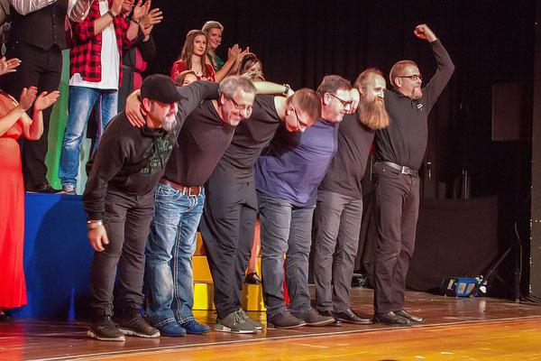 Schlussapplaus für die Stagehands des Musicalzaubers 2018