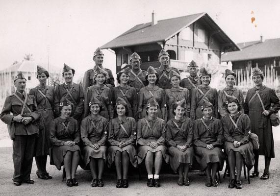 Teil Kehrsatzer Ortswehr gegen Ende des 2. Weltkriegs