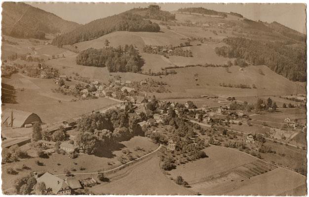 Flugaufnahme von Kehrsatz aus den 1940er Jahren