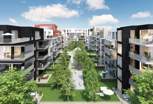 Wohnquartier in Düsseldorf | schröder & kamm, Essen