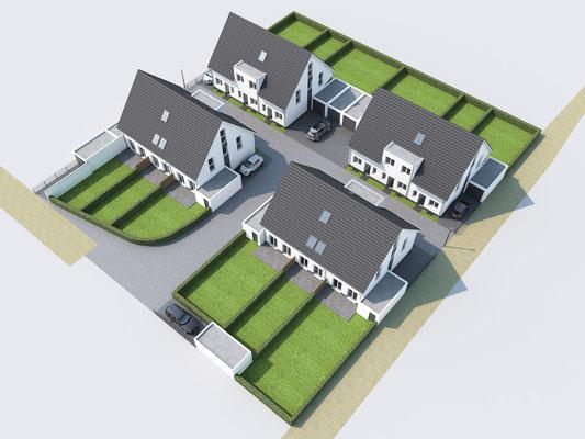 Reihenhäuser Tomper Weg Mönchengladbach |  WISA Bau, Kaarst