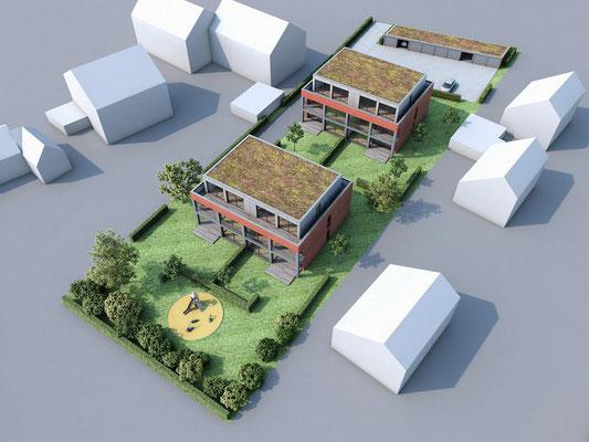Mehrfamilienhäuser in Lank-Latum | Martin Sulke, Krefeld für GWG, Viersen