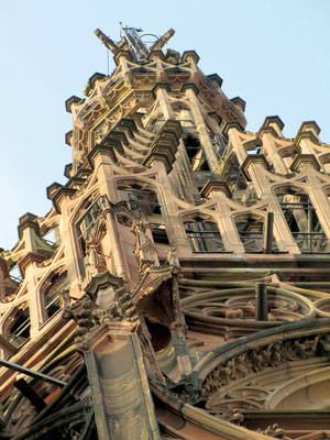 Ausschnitt obere Turmspitze, Strassburger Münster; © Foto Dr. Peter Diziol