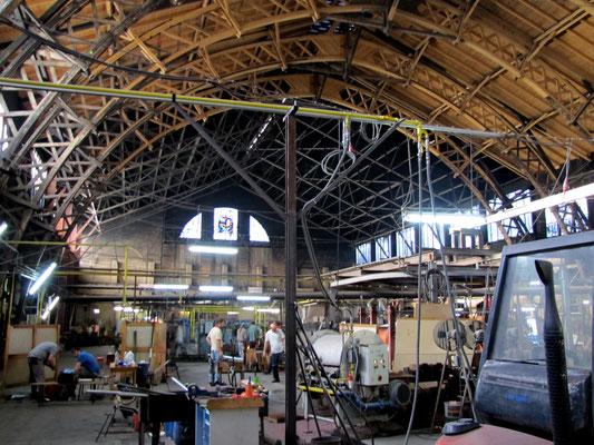 über 110 Jahre alte Werkshalle Glashütte Lamberts in Waldsassen; © Foto Diziol. 2015 Genehmigung Reiner Meindl, Geschäftsführer