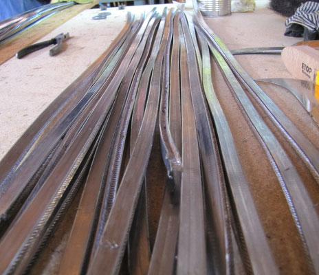 gezogene lange Bleiruten sind weich und biegsam; © Foto Dr. Peter Diziol