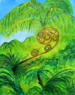 Reiseskizzen Neuseeland Farnwald