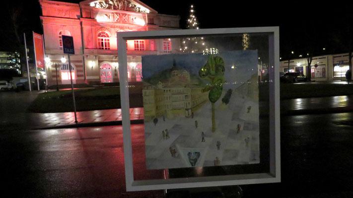 die Kunst leidet unter der Pandemie, rote Beleuchtung von Theater und Museen - © Idee, Fotos Peter Diziol
