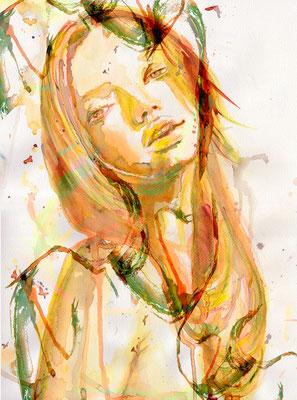 #beauty #illustration #aquarel #guelay