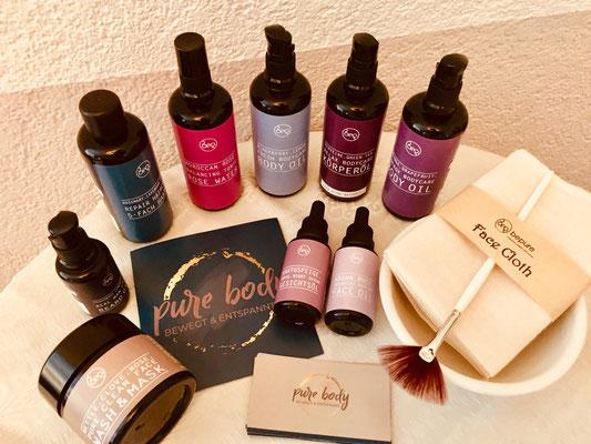 Meine Massage Produkte von bepure