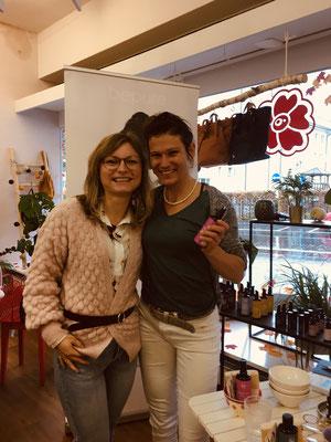 mit Gründerin von bepure: Kathleen Krug