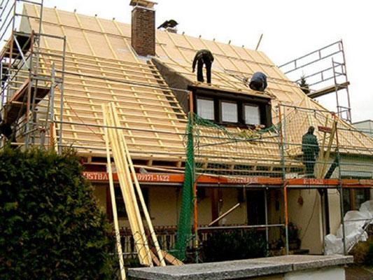 Dachdämmung und Neueindeckung