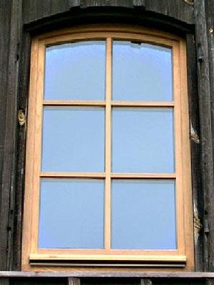 Segmentbogenfenster in Eiche massiv