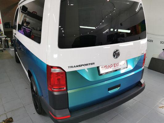 Teilfolierung VW T6 Aquamarin Wrap Expert Lübeck