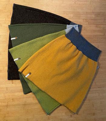 Farben von oben nach unten: Lodengrün meliert, Moosgrün, Olivgrün, Senf (Bild 6)