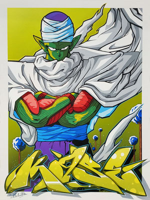 "80x60cm. Acrylic and spray paint on canvas. "" Piccolo "" 2020"