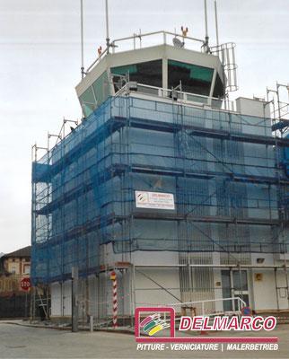 Delmarco pitture e verniciature Bolzano - Bozen  |  tinteggiatura torri di controllo aereporto Bolzano