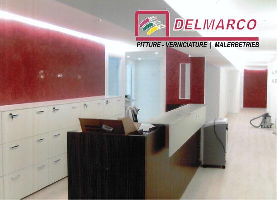 Delmarco pitture e verniciature Bolzano - Bozen  |  applicazione marmorini studio notarile
