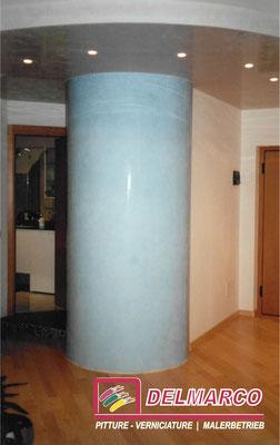 Delmarco pitture e verniciature Bolzano - Bozen  |  colonna a stucco Veneziano