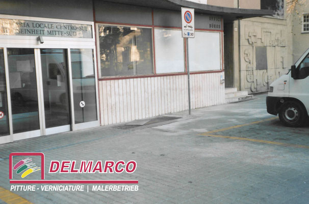 Delmarco pitture e verniciature Bolzano - Bozen  |  lavoro eseguito asportazione graffiti