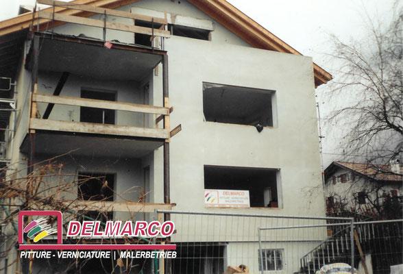 Delmarco pitture e verniciature Bolzano - Bozen  |  lavorazione esterna villetta con intonaci Fassa Bortolo