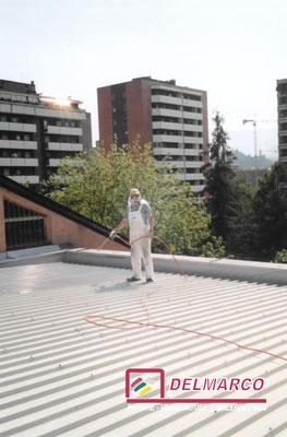 Delmarco pitture e verniciature Bolzano - Bozen  |  verniciatura tetto con vernici epossidiche antiruggine