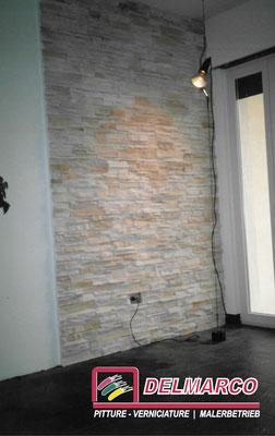 Delmarco pitture e verniciature Bolzano - Bozen  |  applicazione geopietra per rivestimento