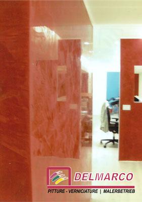 Delmarco pitture e verniciature Bolzano - Bozen  |  lavorazione a marmorino - studio notarile