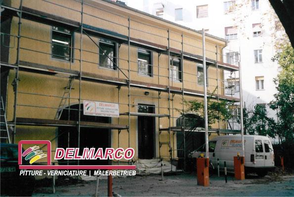 Delmarco pitture e verniciature Bolzano - Bozen  | preparazione cantiere per tinteggiatura esterna villetta con pitture silossaniche