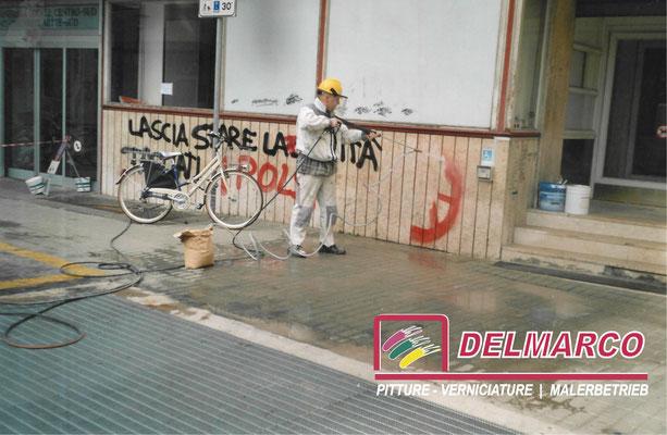 Delmarco pitture e verniciature Bolzano - Bozen  |  idrosabbiatura per asportazione graffiti