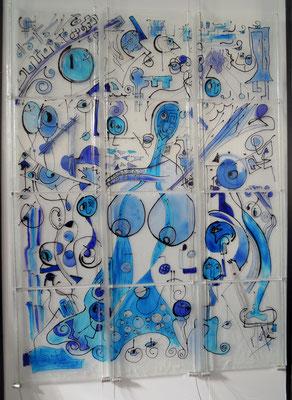 Mère Azur -    Primé au 55e salon Grand Format  Artistes de nos régions Mennecy (91)