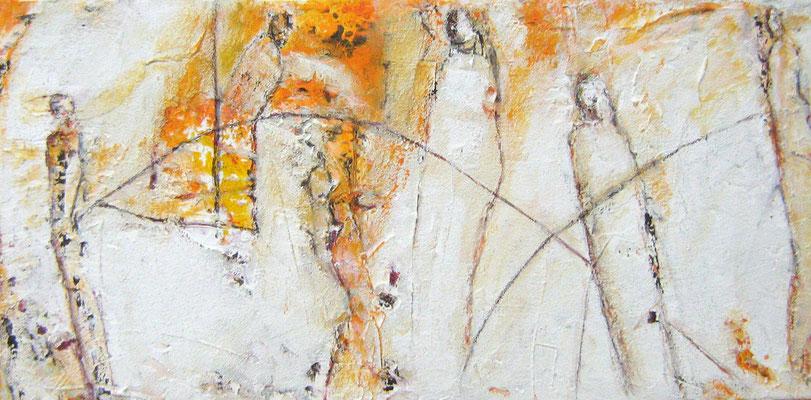 """Wegbegleiter IV"",  30x60cm, Acryl auf Leinwand, 2009"