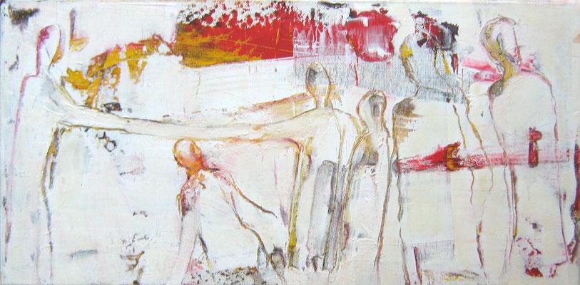 """""""Wegbegleiter IIa"""", 30x60cm, Acryl auf Leinwand, 2009"""