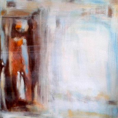 """""""A silent space"""", Acryl auf Leinwand, 60x60cm, 2018"""
