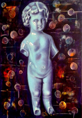 Vergänglichkeit III, Acryl auf Leinwand, 100x70cm, 2017