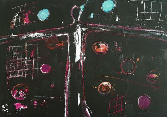 Freiheit, Acryl auf Canvas, 50x70cm, 2021