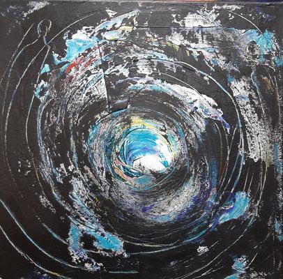 Befreiung, Acryl auf Canvas, 40x40cm, 2020