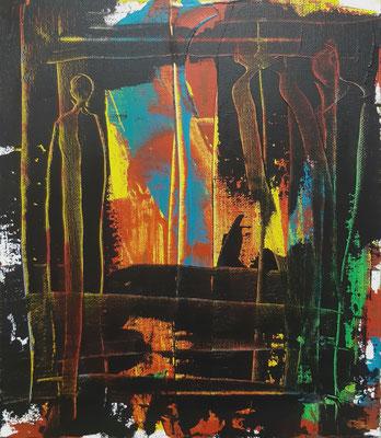 Freiheit II,  Acryl auf  Canvas, 30x20cm, 2020