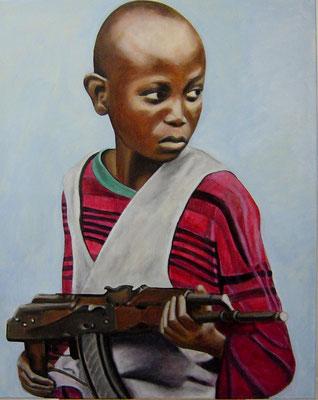 Verlorene Kindheit, Acryl auf Leinwand, 100x80, 2005