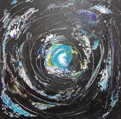 Befreiung II, Acryl auf Canvas, 40x40cm, 2020