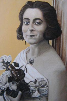 Aus der Zeit II, Acryl auf Leinwand, 120x100cm, 2005