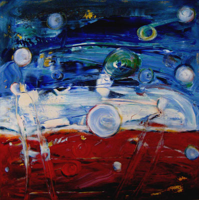 """""""Orbs"""", Acryl auf Leinwand, 60x60cm, 2016"""