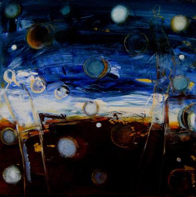 """""""Orbs III"""", Acryl auf Leinwand, 60x60cm, 2016"""