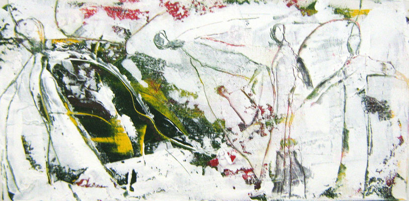 """""""Wegbegleiter III"""", 30x60cm, Acryl auf Leinwand, 2009"""